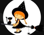Милые ведьмочки на Хэллоуин - Пазл