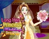 Свадебное платье длинноволосой принцессы