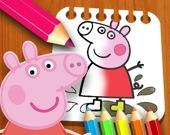 Свинка Пеппа - Раскраска