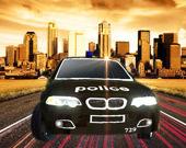 Дрифт на полицейской машине