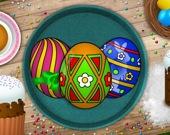 Пасхальные яйца - Раскраска