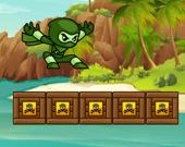 Бег зеленого ниндзя