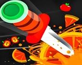 Гибкий нож - Удар по доске