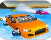 Пляжные гонки на машинах с воздушной подушкой
