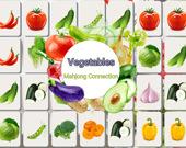Соедините овощи в маджонге онлайн