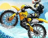 Экстремальная мотогонка в снегу