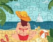 Летний пляж - Пазл