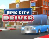 Водитель в эпическом городе