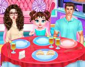 Малышка Тейлор готовит китайскую еду