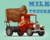 Молочные фургоны - Пазл