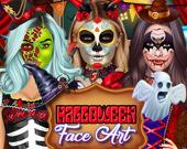 Фейс-арт на Хэллоуин