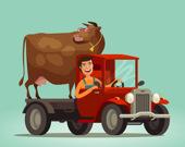 Милые грузовики для деток: Раскраски