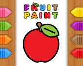 Раскраска фруктов