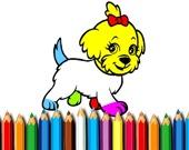 Собачка Раскраска