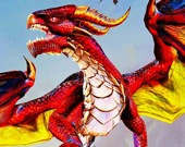 Летящий дракон атакует