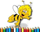 Пчелка Майя - Раскраска