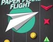 Полёт бумажного самолётика