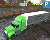 Парковка грузовиков в порту