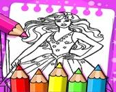 Барби - Раскраска