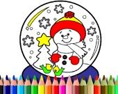 BTS Рождественская раскраска