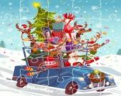 Рождественские грузовики - Пазл