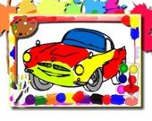 Раскраска: гоночные машины