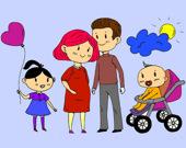 Раскраска для счастливой семьи