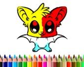 Милая Летучая Мышь: Книжка-Раскраска