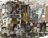 Старые фургоны - Пазл