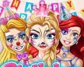 Раскрась лицо на День Рождения