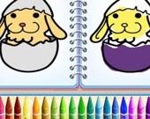 Книжка раскраска кролика