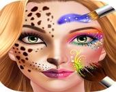 Гримёр: красочные узоры на лице