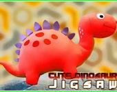 Пазл: Милые динозавры