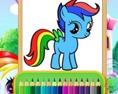 Раскраска чудо-пони