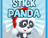 Панда с палкой