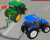Симулятор буксировки трактора с цепью