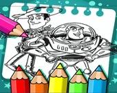 История игрушек - Раскраска