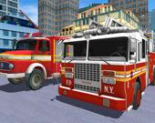 Спаси город на пожарной машине