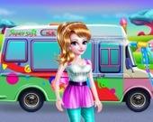 Мойка девчачьего фургончика с мороженным