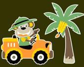 Раскраска для детей: Милые машины
