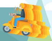 Пазл: Супер скутер