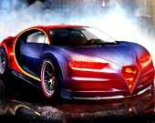 Гоночный Bugatti - Пазл