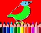 Раскраска с птичками