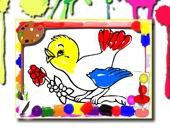 Раскраска: Птицы