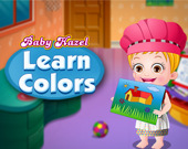 Малышка Хейзел изучает цвета