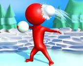 Снежный бой Стикмена