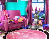 Уборка дома девчушек