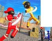 Игра Стикмен полицейский против Гангстеров: Уличный бой