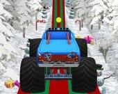 Рождественские грузовики-монстры