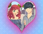 Одень романтичную Аниме-пару